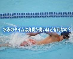 水泳 身長 タイム